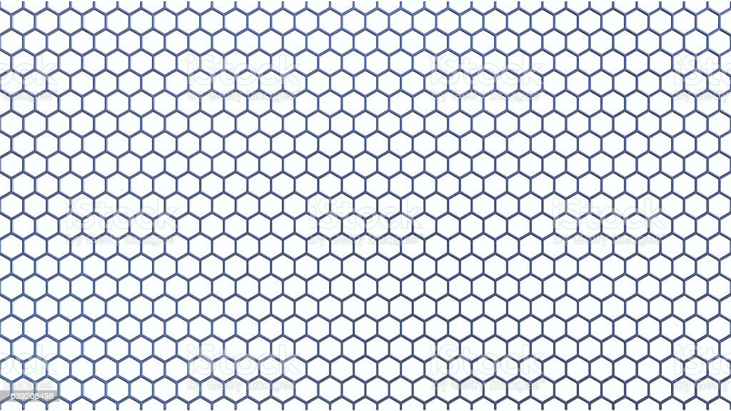 Simple Hexagonal Railing Isolated on White stock photo