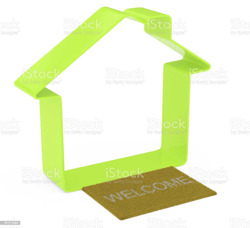 simple house shape royalty-free stock photo