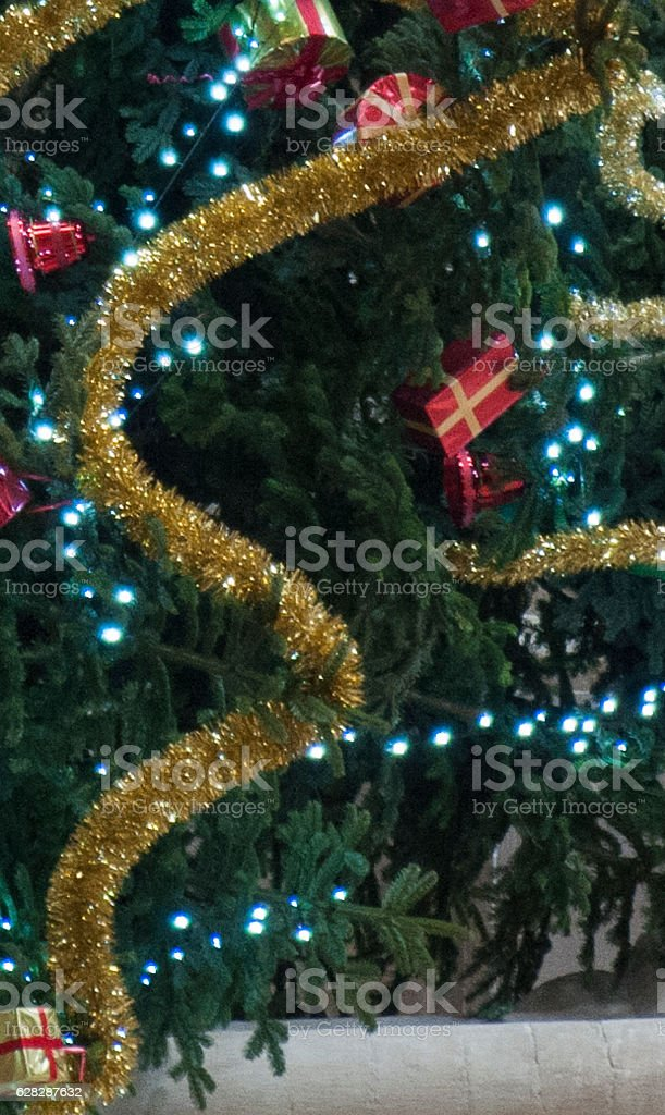 Simple image of Christmas Decorations on tree stock photo