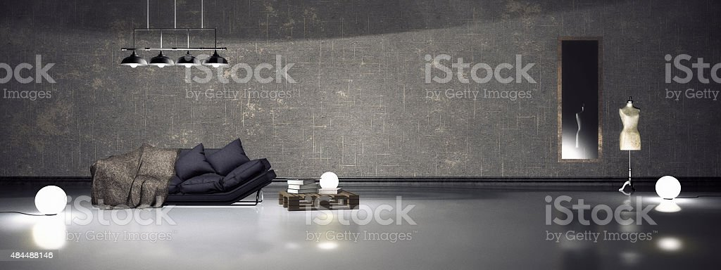Simple interior stock photo