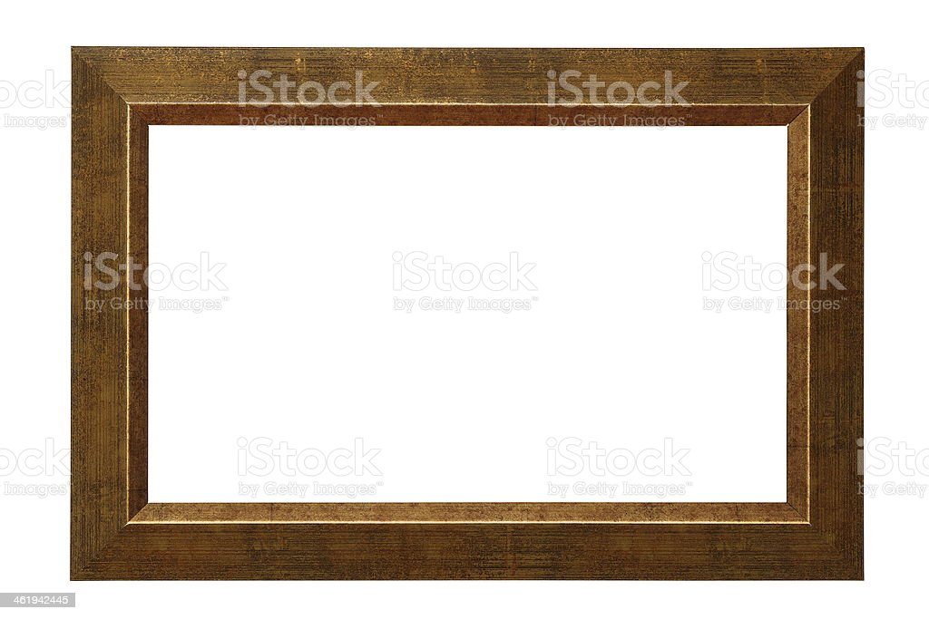 simple isolated picture frame stock photo