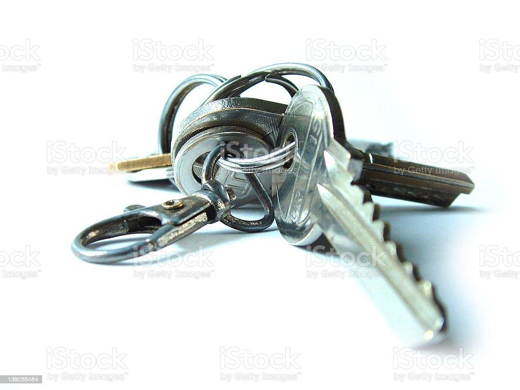 simple keys on white background royalty-free stock photo