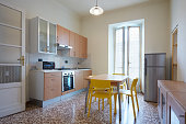 Simple kitchen interior in normal apartment