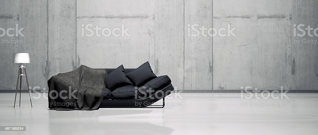 Simple living room interior stock photo