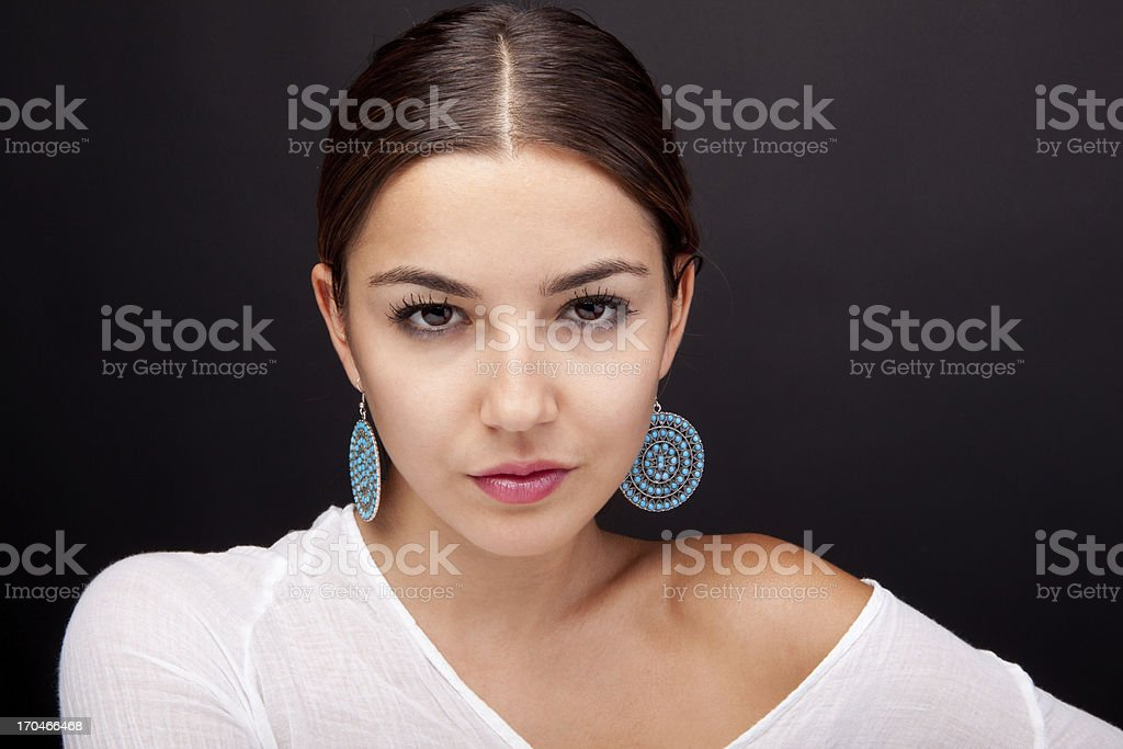 Simple make-up stock photo