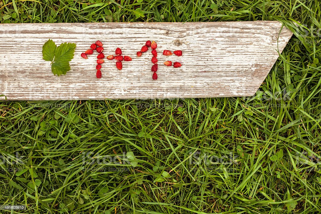 Simple math task. stock photo