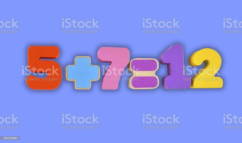 Simple mathematic stock photo