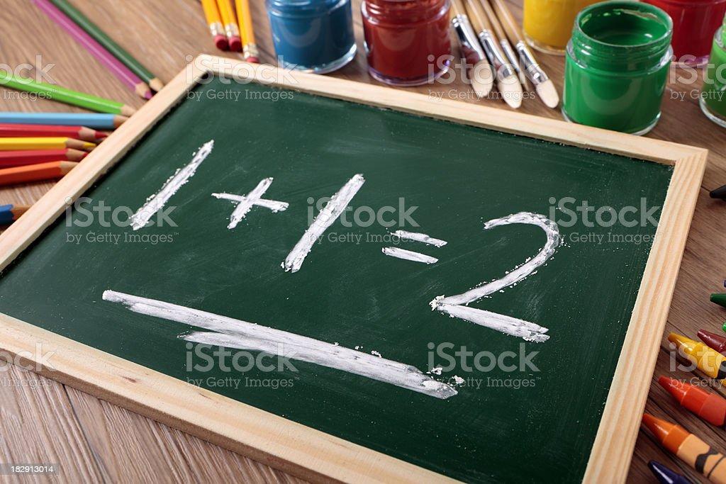 Simple mathematics stock photo