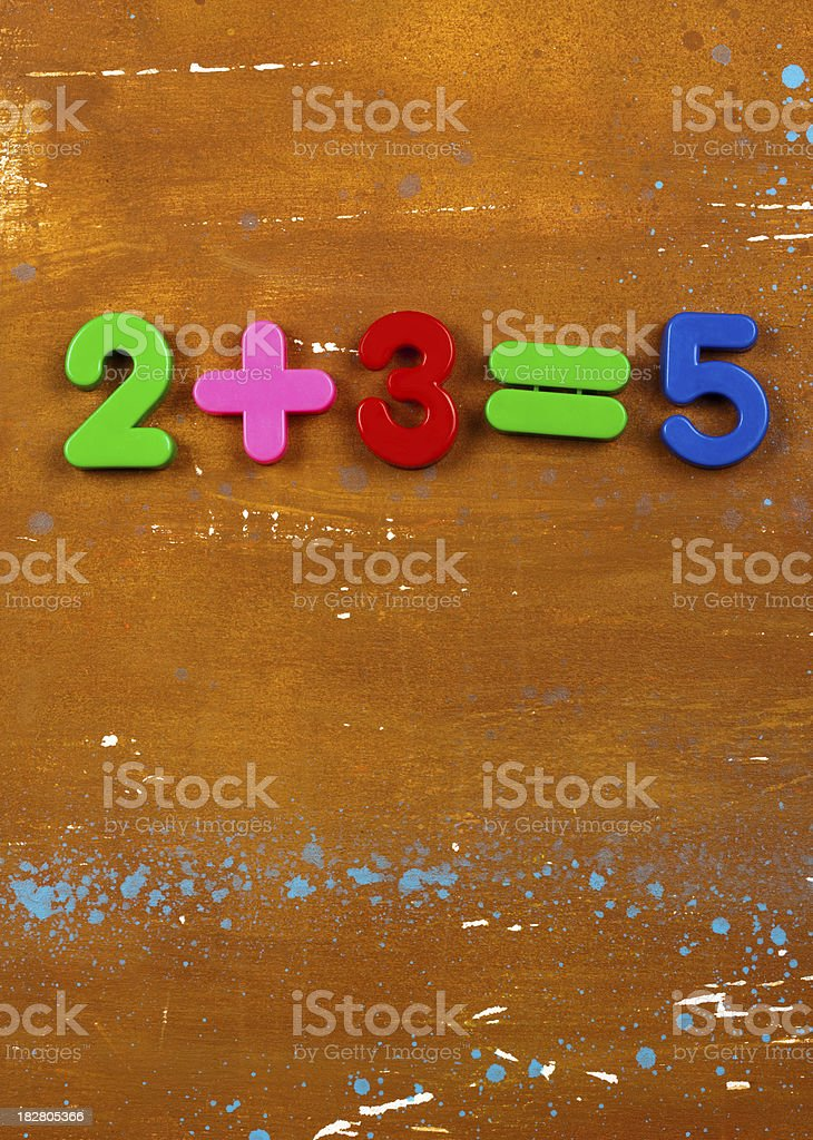Simple Maths stock photo