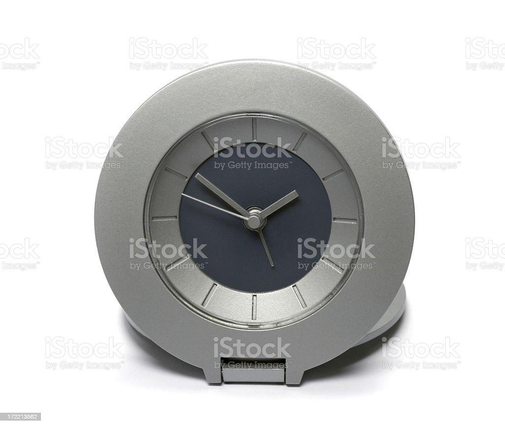 Simple modern alarm clock (isolated) royalty-free stock photo