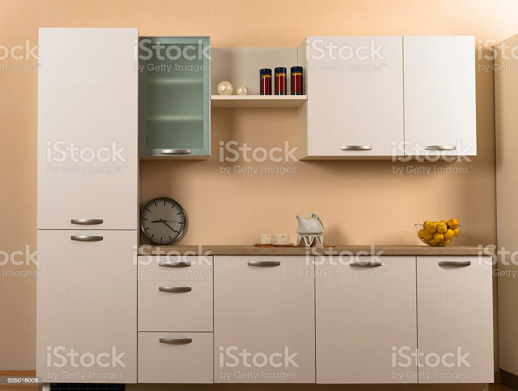 Simple modern kitchen stock photo
