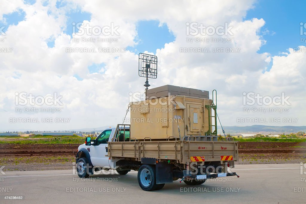 Simple moving radar stock photo
