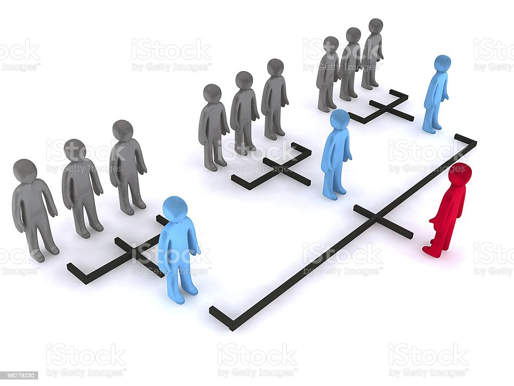 Simple organizational structure stock photo
