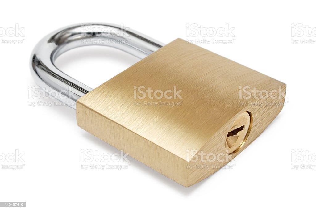 Simple Padlock stock photo
