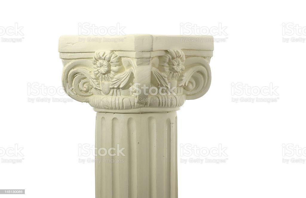 Simple pedestal on white background stock photo