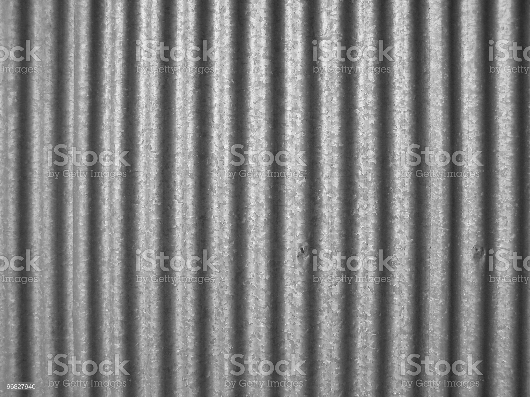 Simple photo of corrugated steel royalty-free stock photo