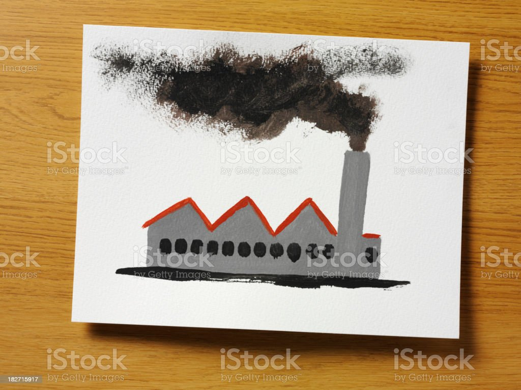 Simple Pollution Painting stock photo