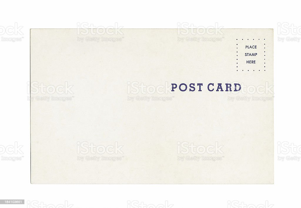 Simple Post Card royalty-free stock photo
