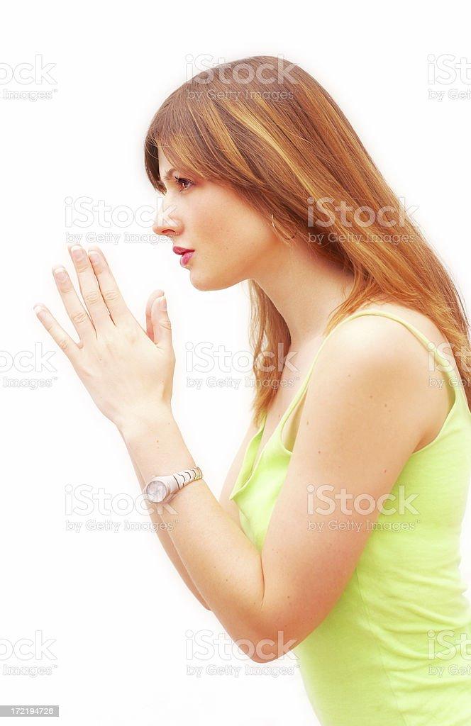Simple Prayer stock photo