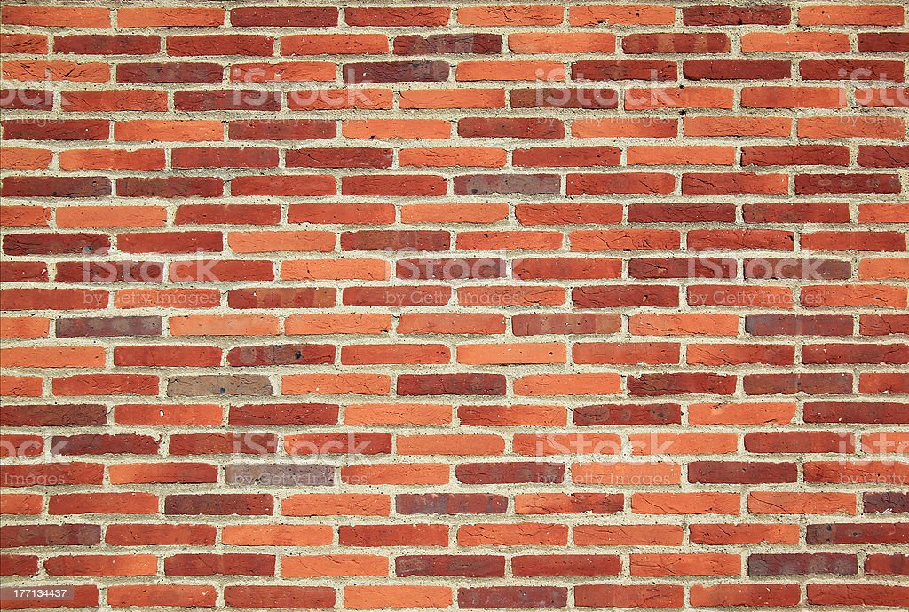 simple red house brick wall background royalty-free stock photo
