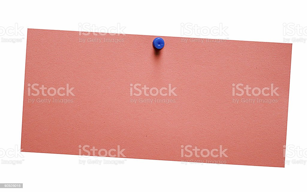 Simple Red Note w/ Path royalty-free stock photo