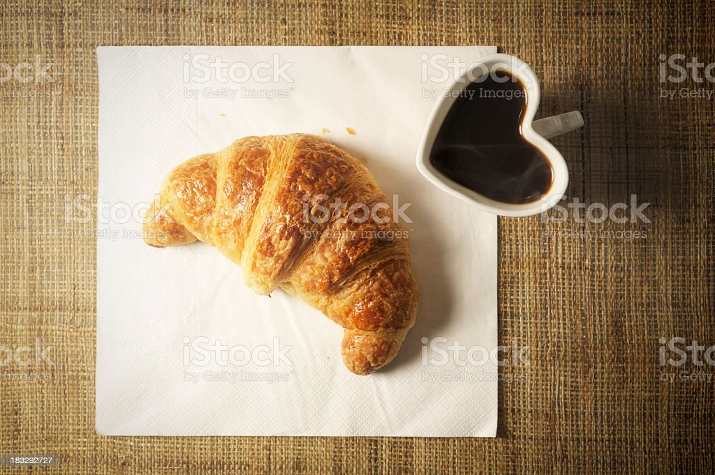 Simple Romantic Breakfast is Waiting for You royalty-free stock photo