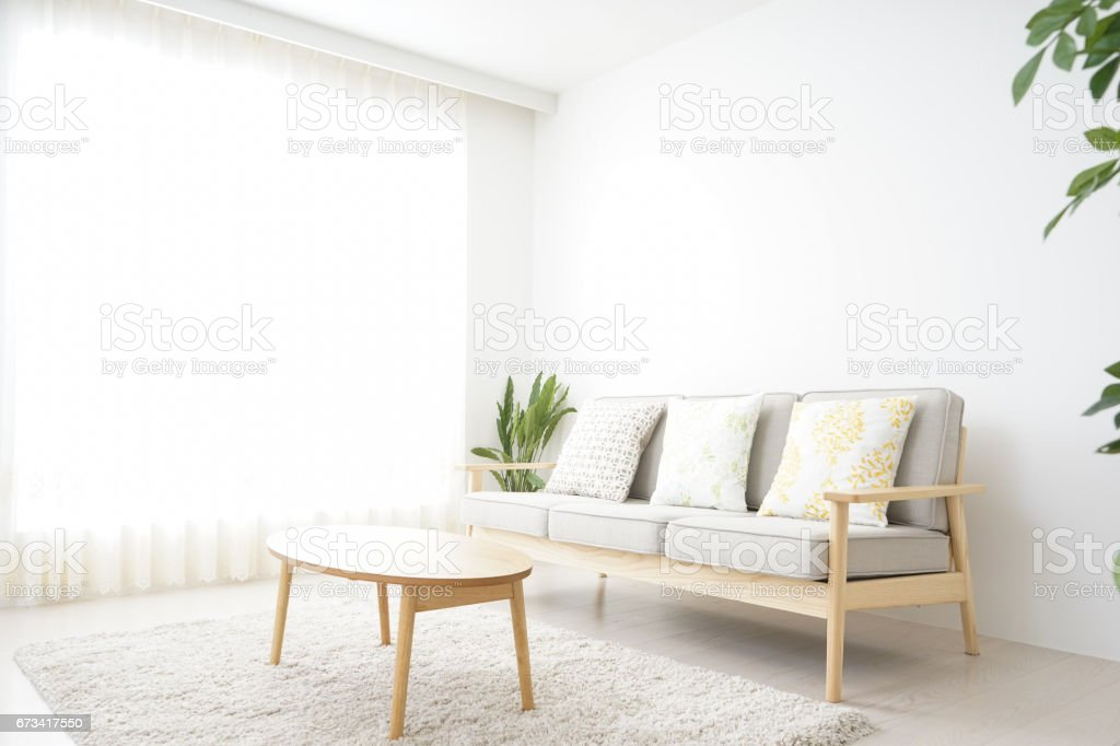 Simple room with nobody stock photo
