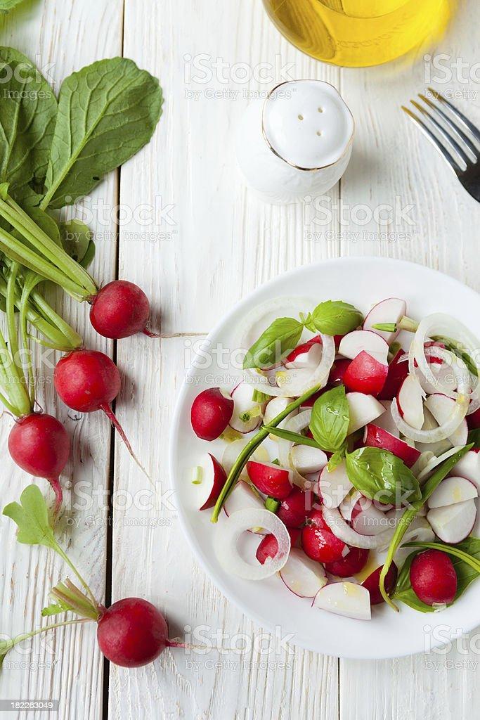 simple salad of radish stock photo