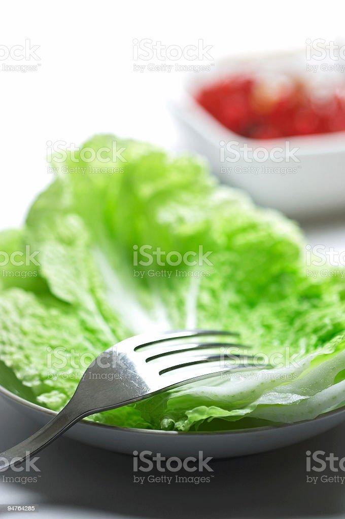 simple salad royalty-free stock photo
