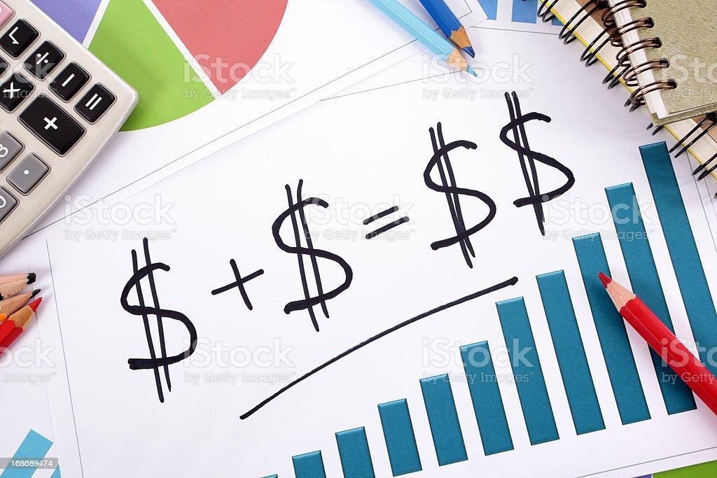 Simple savings formula royalty-free stock photo