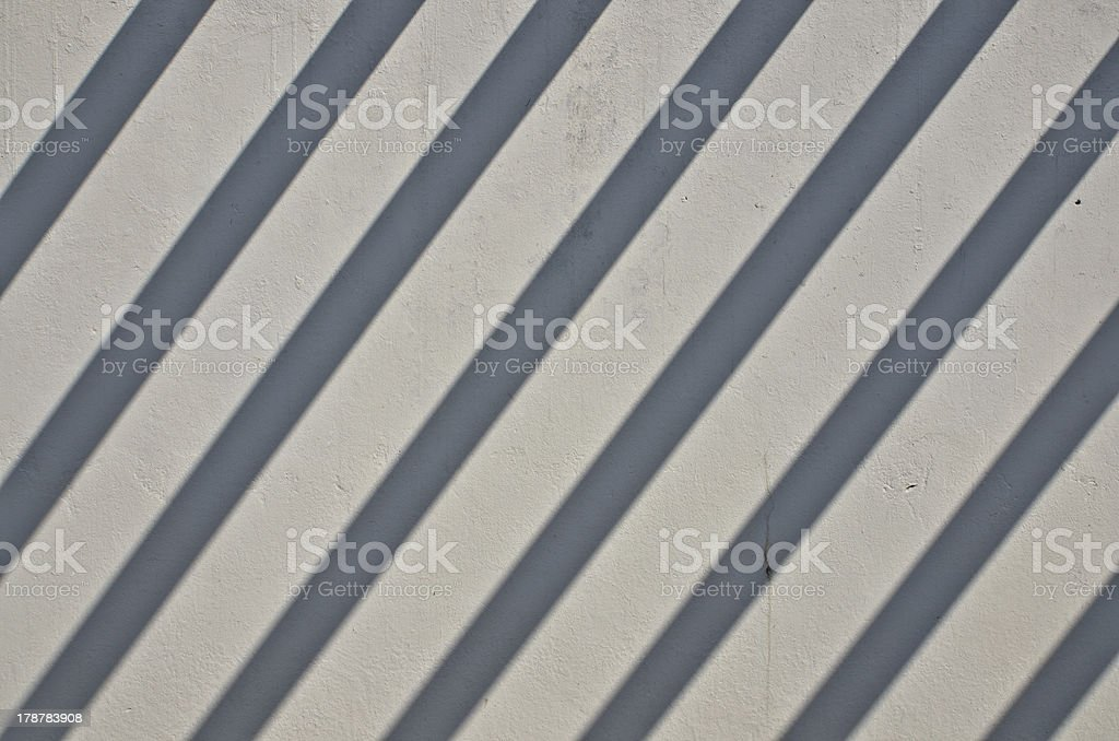 Simple shadow on the wall royalty-free stock photo