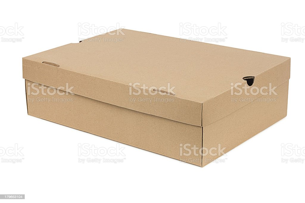 Simple shoe box royalty-free stock photo