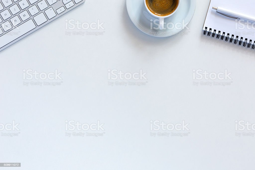 Simple sparse morning Office Composition stock photo