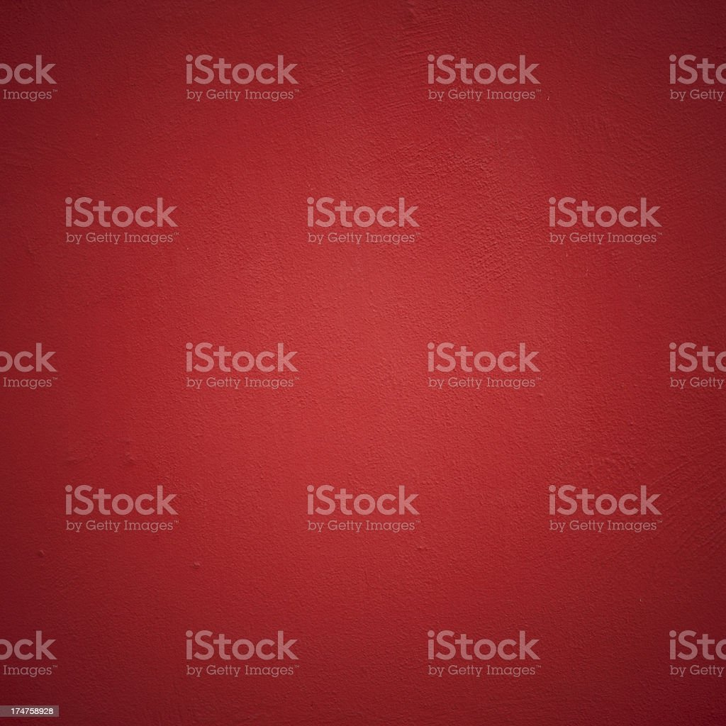 Simple square red wall texture with highlights and lowlights stock photo