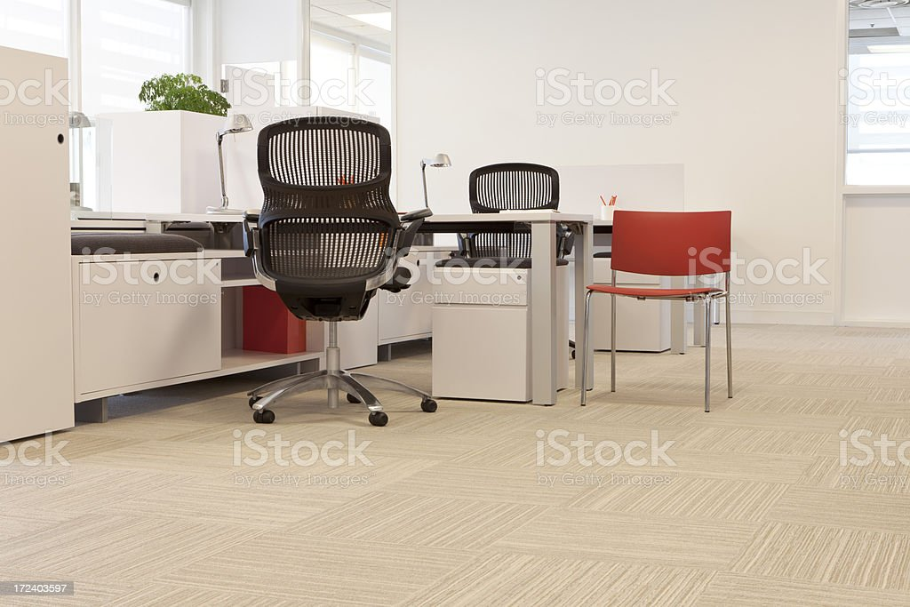 Simple standard contemporary office with basic necessities royalty-free stock photo