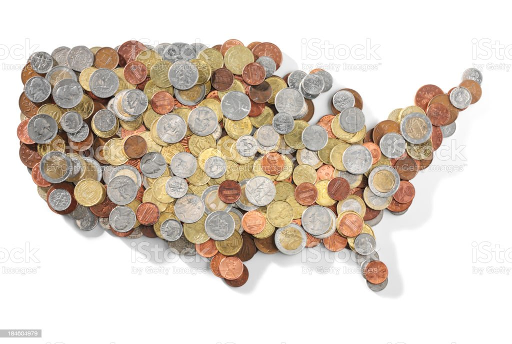 Simple the American States royalty-free stock photo