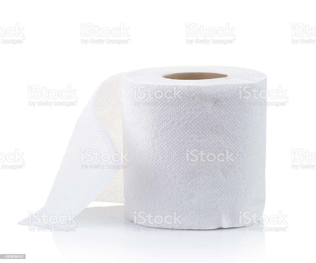 Proste papieru toaletowego na białym zbiór zdjęć royalty-free