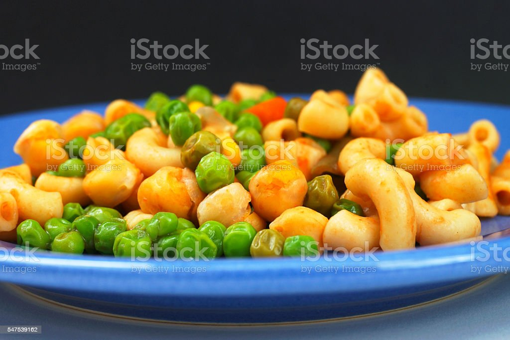 Simple Vegetarian Lunch Plate stock photo