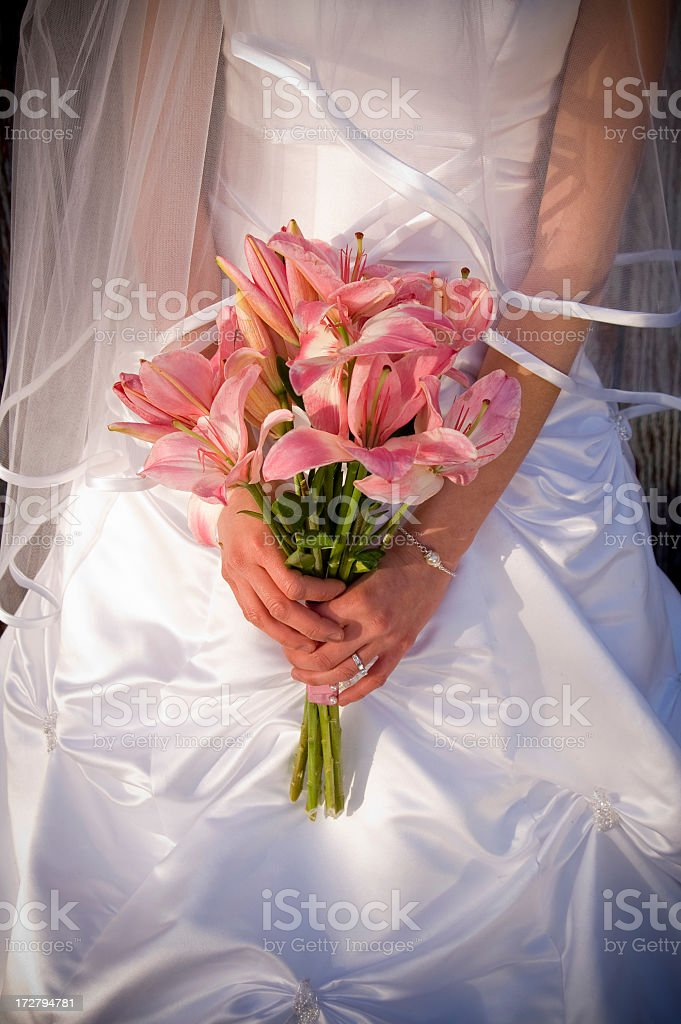 Simple wedding bouquet royalty-free stock photo