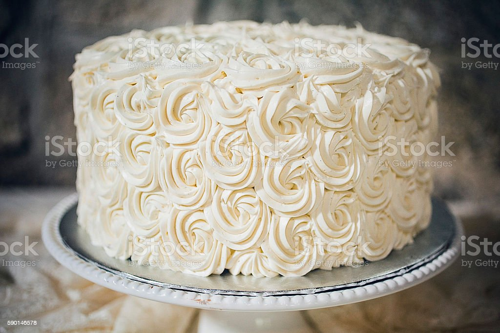 Simple Wedding Cake stock photo
