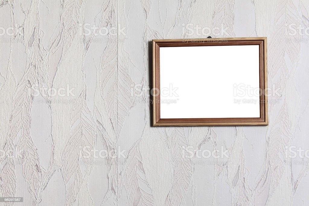 Proste drewniane ramki zbiór zdjęć royalty-free