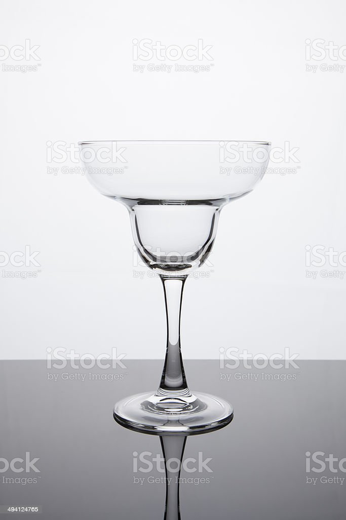 Simplicity - Empty Margarita Glass stock photo