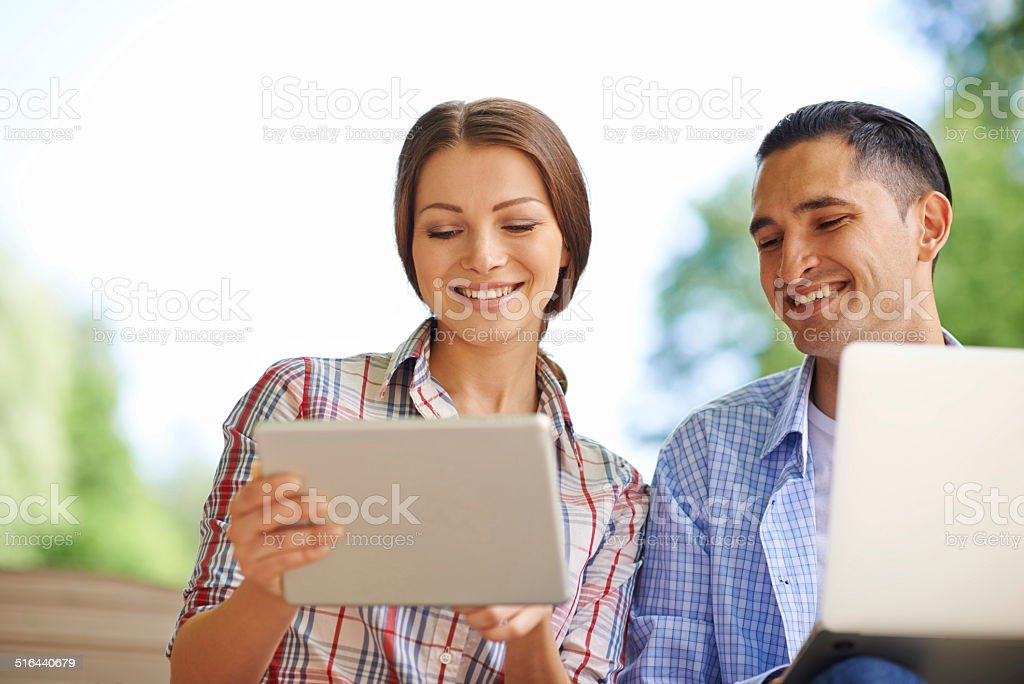 Simplifying business through technology stock photo