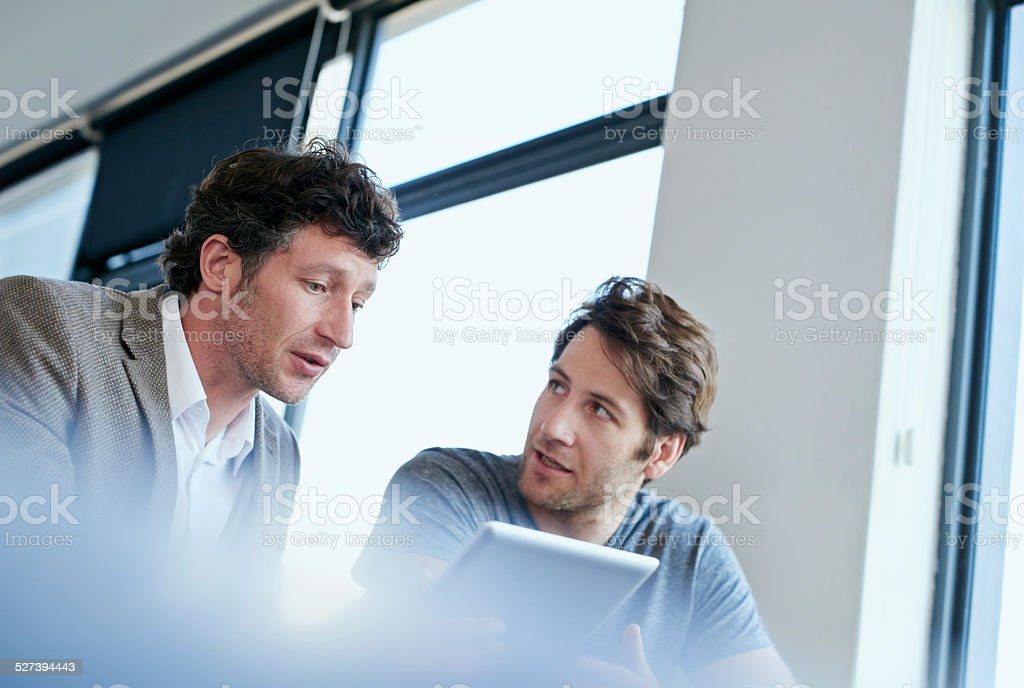 Simplifying the work through technology stock photo