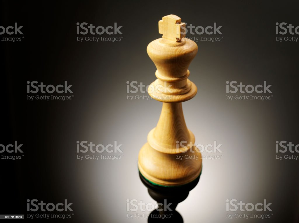 Simply a Chess King stock photo