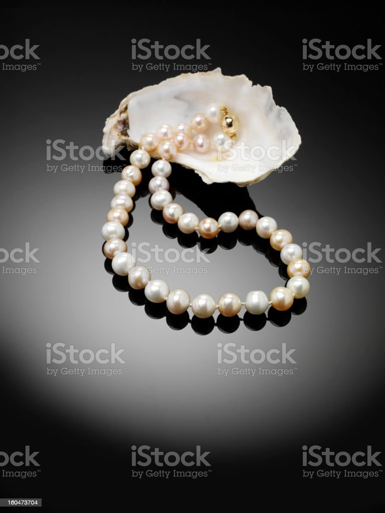Simply Classic Pearls stock photo
