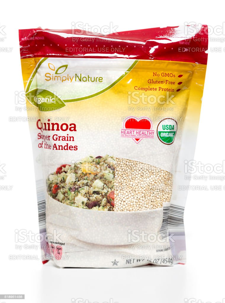 Simply Nature Organic Quinoa package stock photo