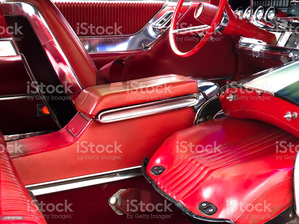 Simply red stock photo