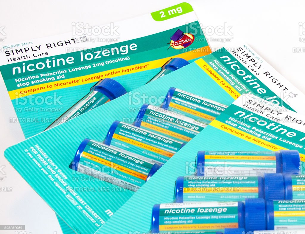 Simply Right Nicotine Lozenges stock photo
