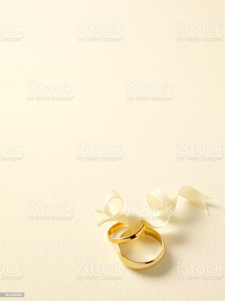 Simply Two Gold Wedding Rings royalty-free stock photo
